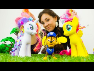 Май Литл Пони: видео про игрушки. Рарити и Флаттершай. Чья расчёска?