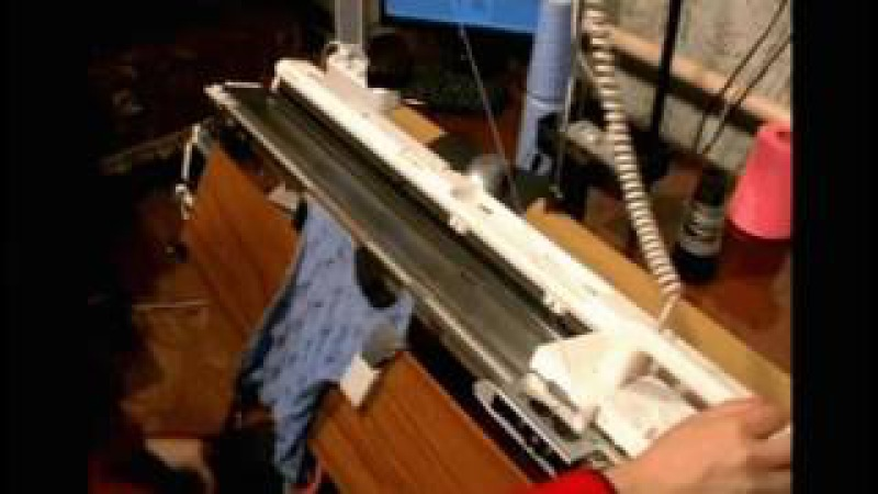 Видеокурсы по машинному вязанию на Silver Reed SK840SRP60N ( 1часть 2серии )
