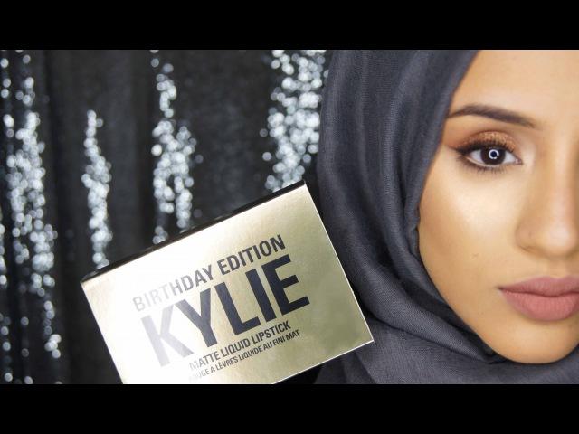 Swatches | Kylie Birthday Edition Lipsticks Posie K on Olive Skin/Dark Lips