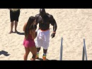 Kali Muscle Hanging at Muscle Beach on Labor Day 2016