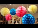 Paper Crafts How to make a Paper Honeycomb Ball tutorial 1