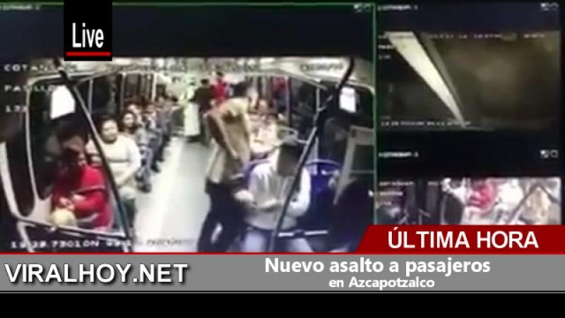 Nuevo asalto a pasajeros en Azcapotzalco