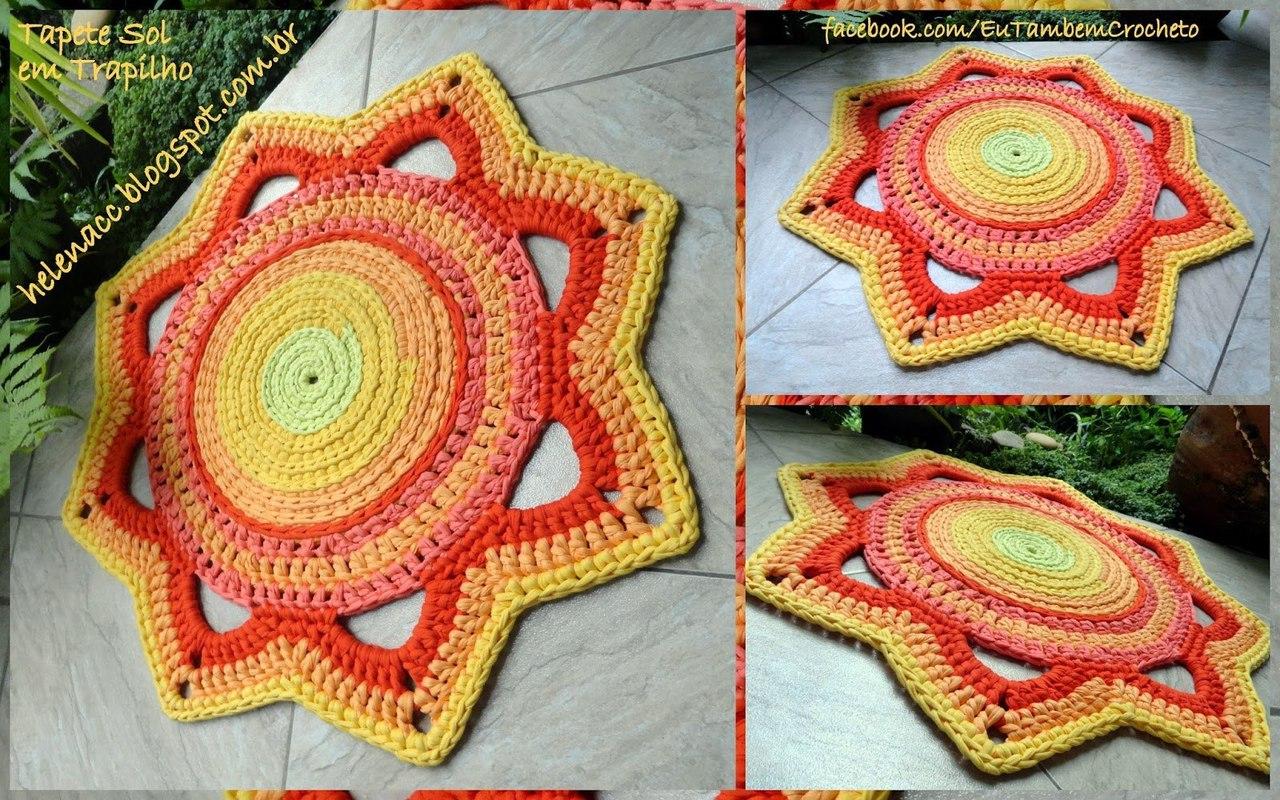 """钩针地毯""""太阳"""" - maomao - 我随心动"""