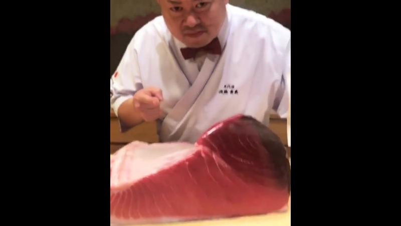 17.11.2017 | Сынри в суши расторане Teruzushi в Японии с шеф-поваром.