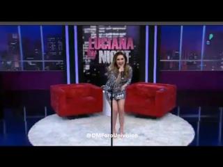 #VIDEO @DulceMaria canta #Rompecorazones en el programa @LucianaByNight