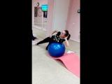 Талия-косые мышцы на фитболе. СПБ ВО Шейпинг