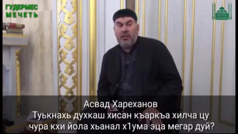 Асвад Хариханов - Туькнахь духкуш къаркъа долуш кхи йолу хума эца мегар дуй?