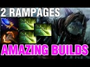2 RAMPAGES SLARK WITH 3 BUTTERFLIES AGHANIM AND BATTLEFURY Amazing builds vol 131 Dota 2