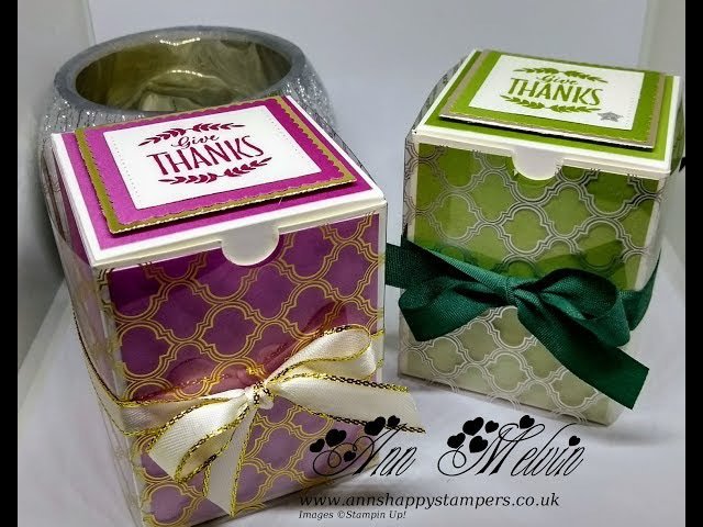 Gorgeous Ombre Effect Gift Box With Foil Acetate Wrap.