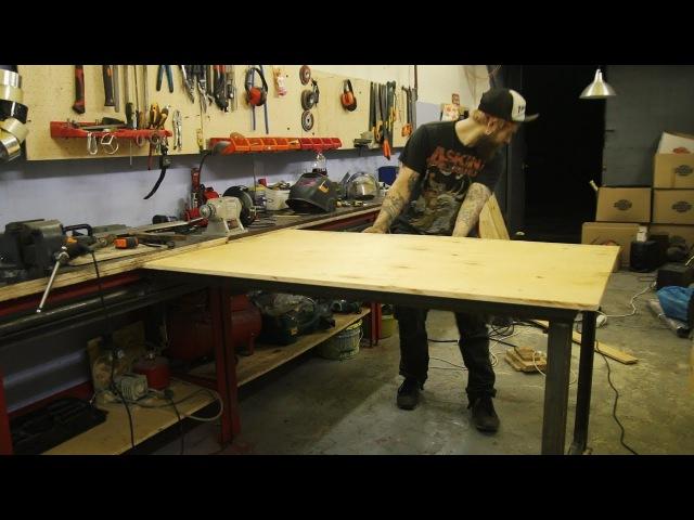 Верстак слайдер и панели для инструмента в мастерскую