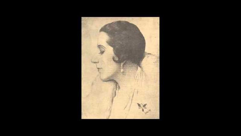 Spanish Soprano Lucrezia Bori ~ Ah, non credea mirarti (1913)
