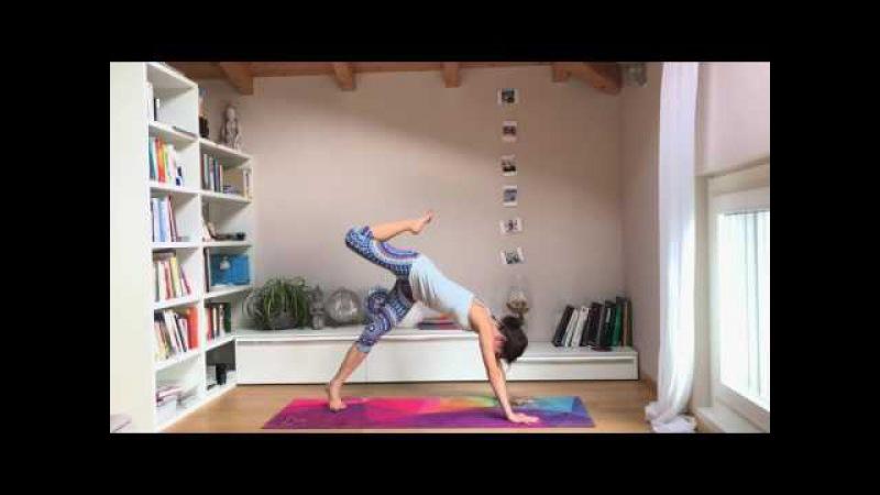 Урок Виньяса Флоу Йога - для начинающих и среднего уровня.