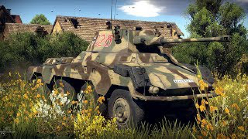 Sd.Kfz.234/2 Puma! ТАНК на КОЛЁСАХ! War Thunder 4k ULTRA HD 60 fps