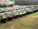 Симферополь бронетранспортеры. 28.12.2011 г..AVI