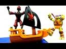 Черепашки Ниндзя и Огненный гонщик! Видео с игрушками для мальчиков.