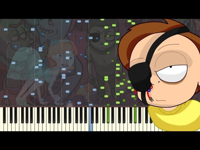 Evil Mortys Theme (2 COLORS VERSION) [Piano Tutorial] (Synthesia) Kyle Landry MIDI