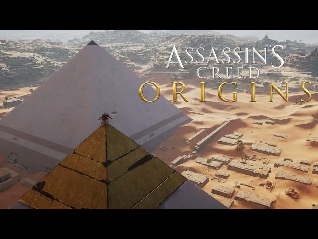 Assassins Creed Origins Gameplay - Climbing The Great Pyramid (Viewpoint)