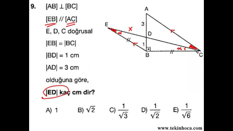 10-Üçgende Açıortay (Geometri Soru Çözümleri) (KPSS - YGS - LYS)