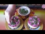 Постный салат -Грузди под шубой-