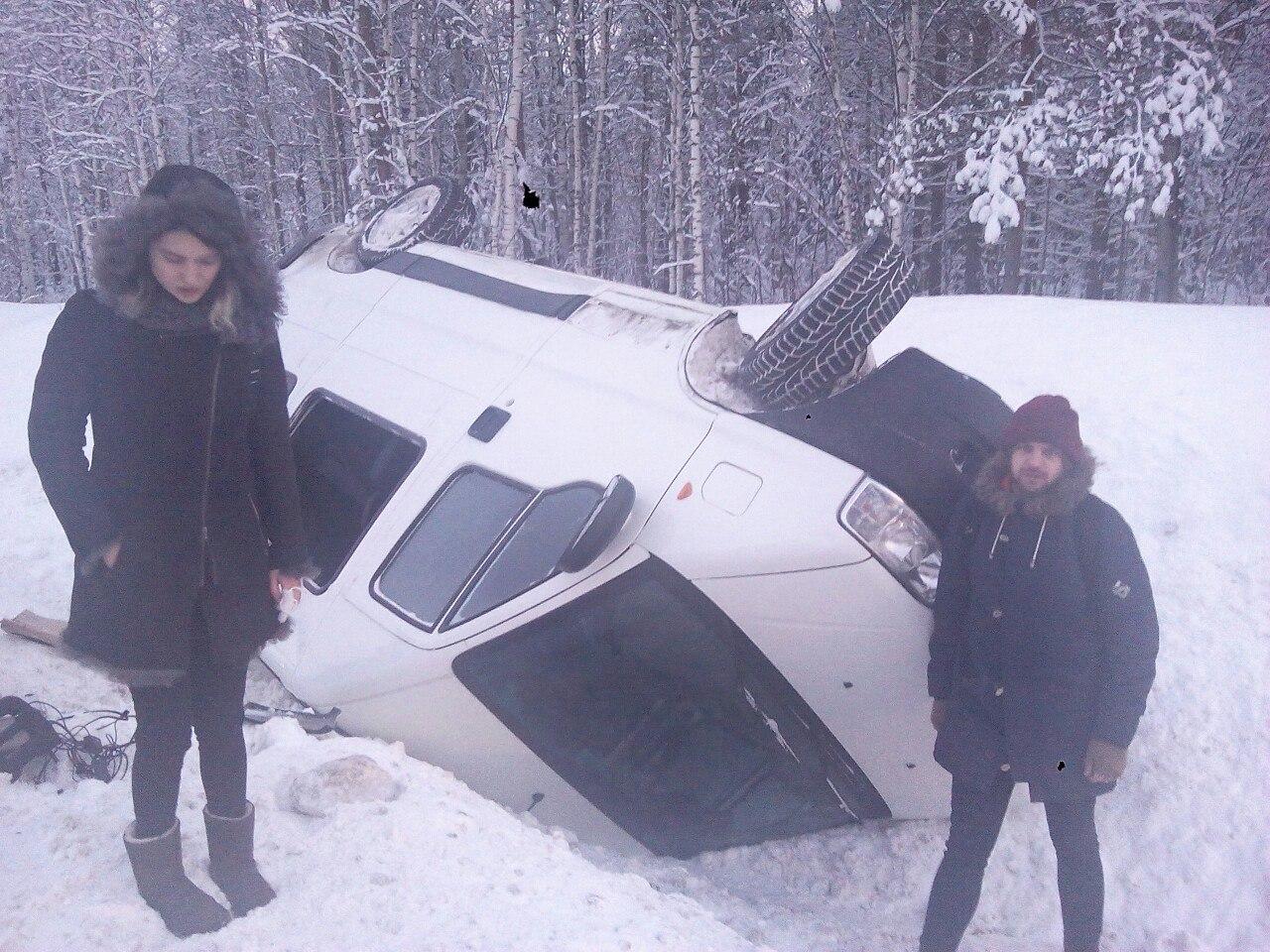 Микроавтобус питерской панк-группы перевернулся под Кировом