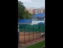 Игра в большой теннис Погода очень хорошая