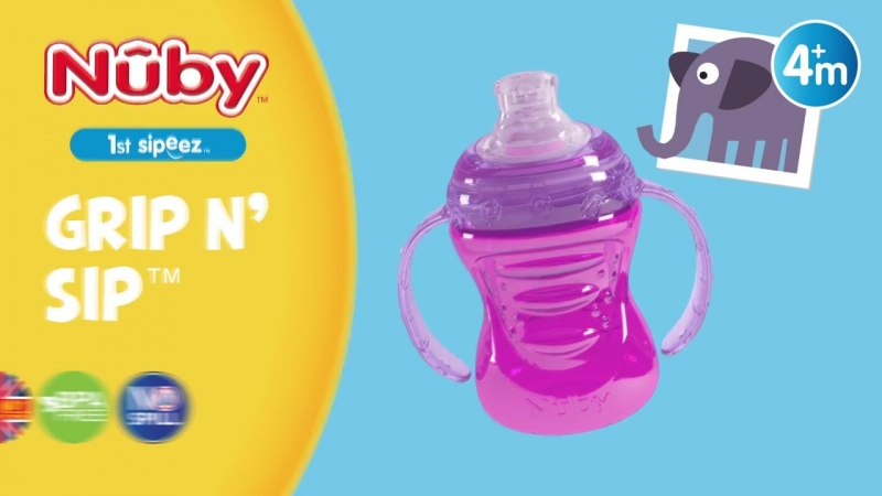 Nuby Grip N Sip Cup the UKs No 1 Soft Silicone Spout Cup