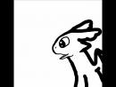 беззубик кривая анимацыя