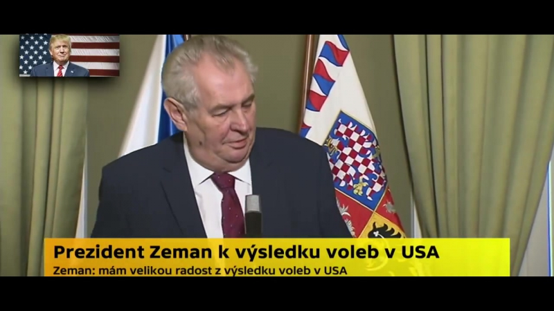 Miloš Zeman se vyjádřil k Americkým volbám.