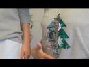 Новинка 🎁⭐ Джемпер с «волшебным» рисунком, который меняет свой цвет! 🎄Проведи рукой и елочка изменит цвет — волшебство! Отличн
