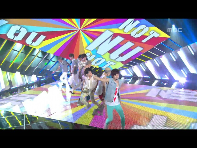 NU'EST - Not Over You, 뉴이스트 - 낫 오버 유, Music Core 20120804