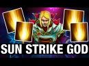 SUN STRIKE GOD - Moo Plays Invoker - Dota 2