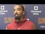 JR Smith on Derrick Rose Not Being a 3 Point Shooter  Cavaliers Training Camp  2017 NBA Preseason
