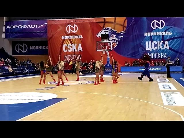 А это танцующий конь и красивый танец девушек в перерывах между раундами международного соревнования