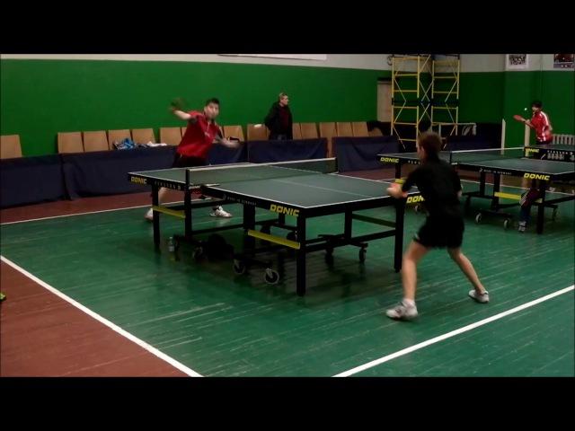 Настільний теніс: товариський турнір/Біндас-Олеськевич\фінал/кращі моменти гри...