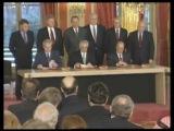 Подписание Дейтонских соглашений в Париже и выступление Президента США Билла Клинтона. 14 декабря 1995 года.