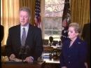Присяга Мадлен Олбрайт на пост Государственного секретаря США 23 января 1997 года