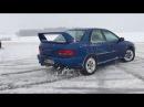 Subaru Impreza GT snow drift