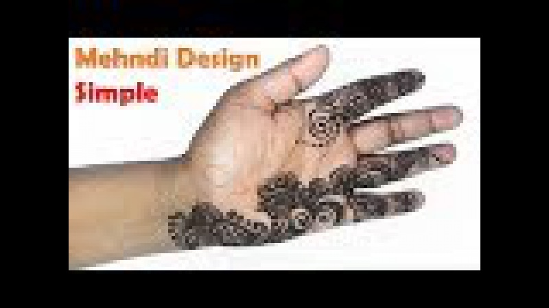 Simple Beautiful Mehndi Designs Step by Step Tutorial | Easy Henna Mehndi Designs