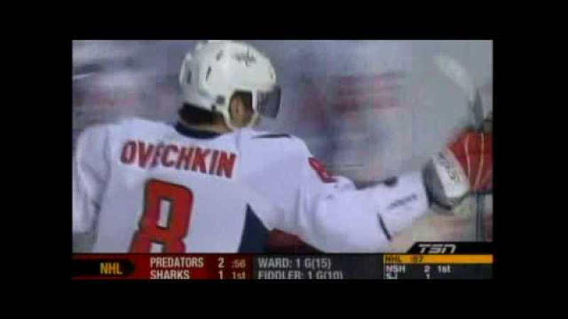Alexander Ovechkin's 50th Goal (With Stick On Fire Celebration)