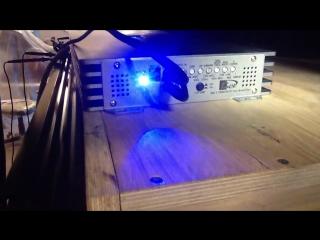 Замер усилителя KICX QS 1.1000 в 1 Ом мощность усилителя GAIN 3-4