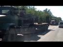 Колонна военных машин 42шт