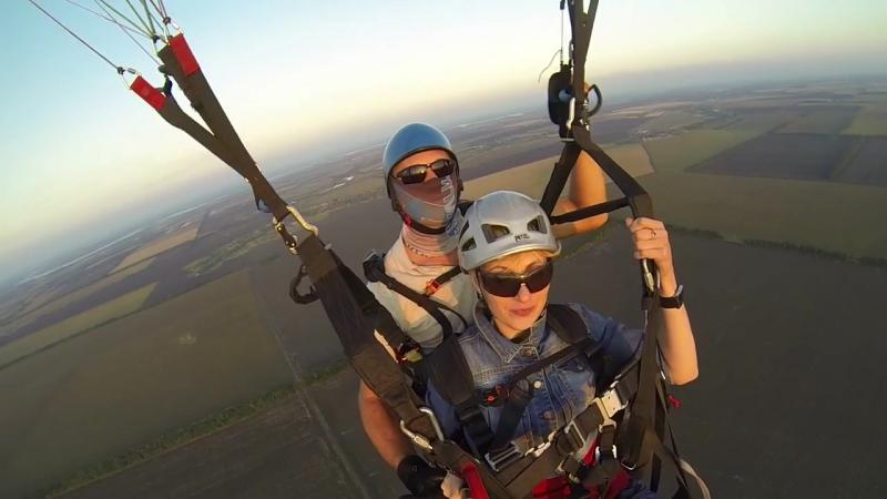 Ребрик Оля. Полет на параплане 3.09.2017г.