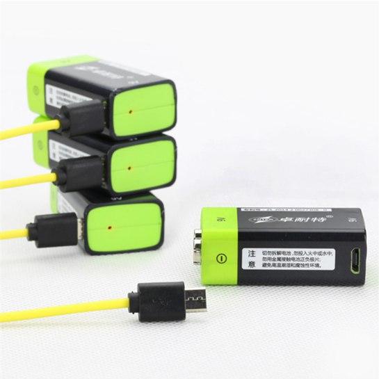 Аккумулятор крона заряжаемый напрямую через microUSB