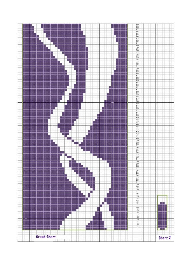 """针织""""有两条飘带""""的围巾 - maomao - 我随心动"""