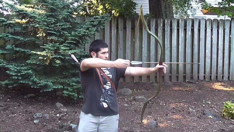 Shooting the The Hobbit Inspired Elven PVC Horsebow