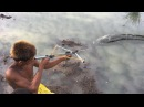Creative Man Make Crossbow to Shoot Fish - Traditional Fishing in Cambodia