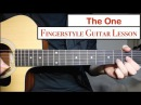 The Chainsmokers - The One | Fingerstyle Guitar Lesson (Tutorial) How to play fingerstyle
