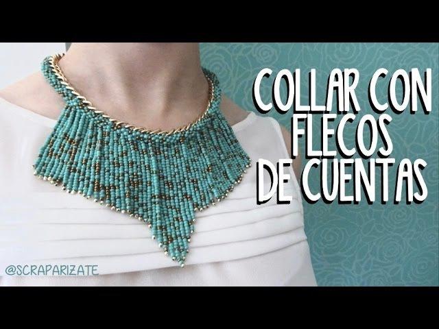 COLLAR DE CUENTAS CON FLECOS