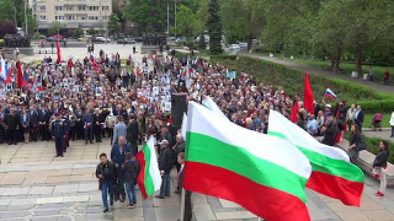 Химните на България и Русия, полагане на венци пред паметника на