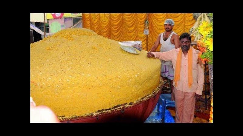 RECORD BREAK RECIPE: OH MY GOD!! 500 KGS LADDU | 500 Kgs Single Piece Ancient Indian Dessert Recipe